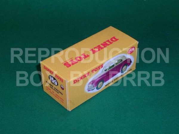 Dinky #159 Morris Oxford Saloon - Reproduction Box (   2-tone Dark Pink & Cream )